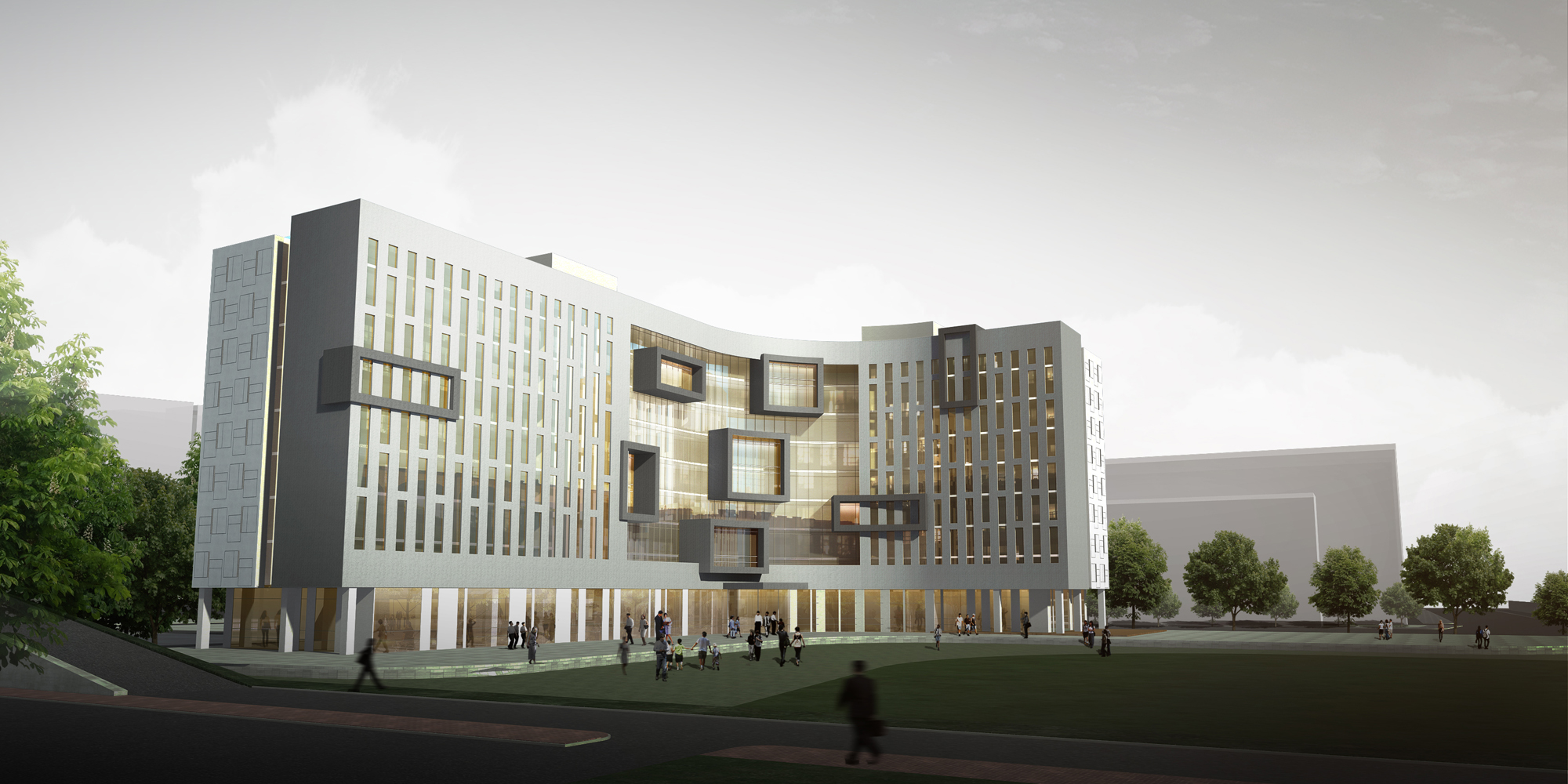 Inha College Dormitory Voyd Visualization Of Younique Design